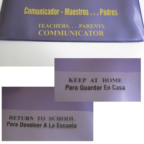 School Take Home Folders - Spanish Version