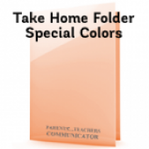 School Take Home Folders - Special Colors